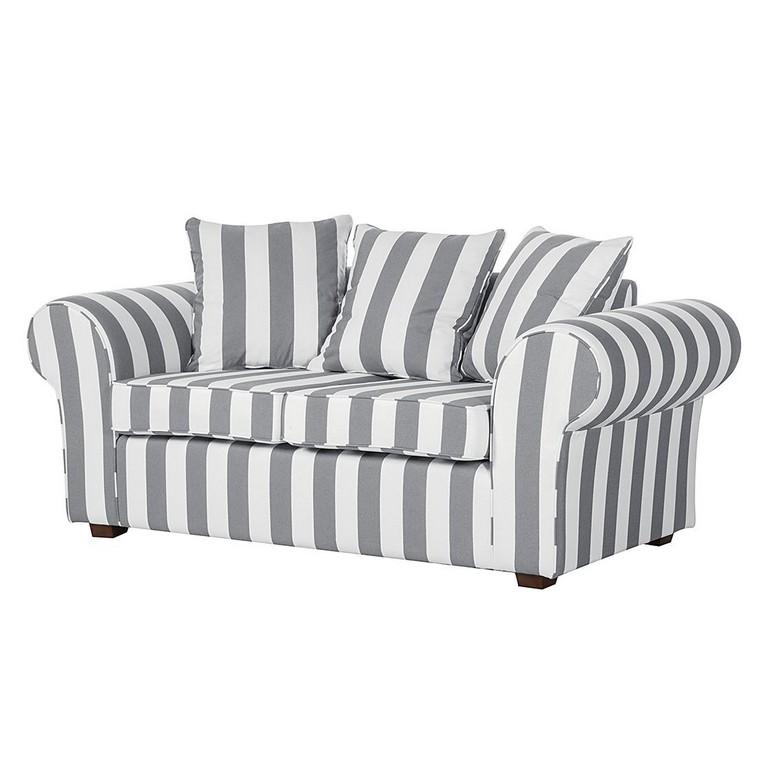 Sofa Colmar 2 Sitzer Webstoff Grau Gestreift Jack And Alice Gnstig within dimensions 1100 X 1100