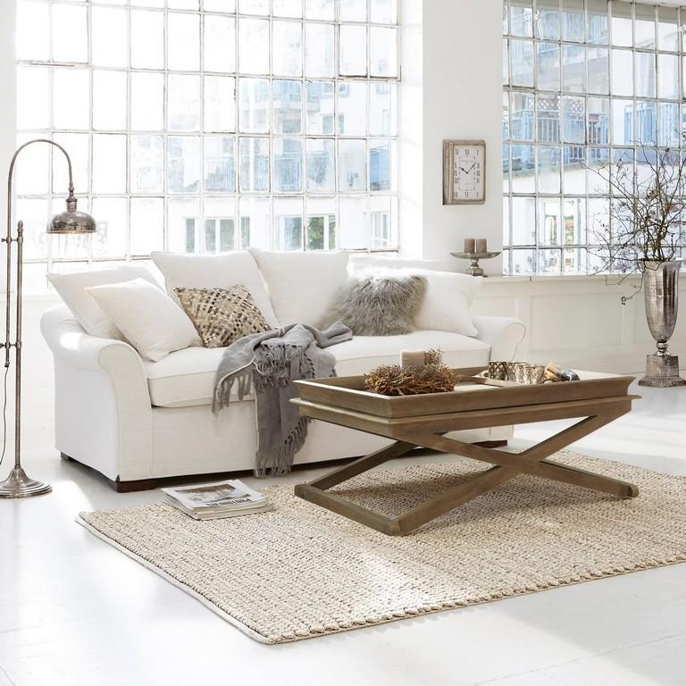 Sofa Long Beach Creme Loberon with regard to sizing 1500 X 1500