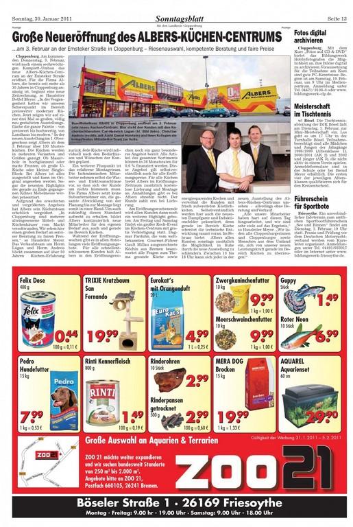 Sonntagsblatt Cloppenburg Vom 30012011 Seite 11 throughout dimensions 1280 X 1909