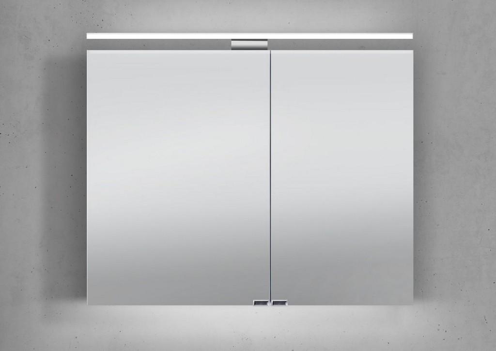 Spiegelschrank Bad 90 Cm Led Beleuchtung Doppelseitig Verspiegelt throughout proportions 1280 X 906