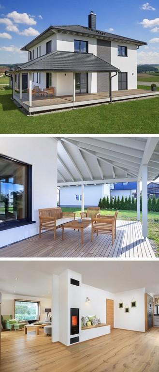 Stadtvilla Modern Mit Zeltdach Architektur Und Holz Terrasse intended for proportions 1200 X 2800