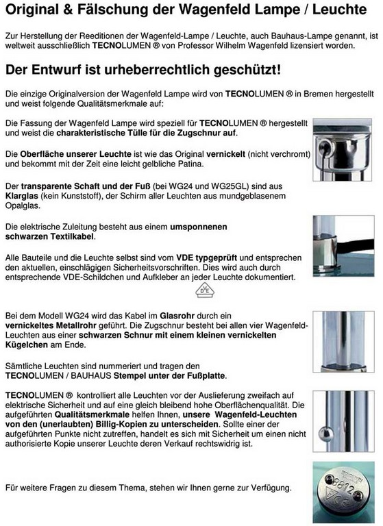 Tecnolumen Ersatzschnur Fr Wagenfeld Lampe Designhoming pertaining to proportions 800 X 1100