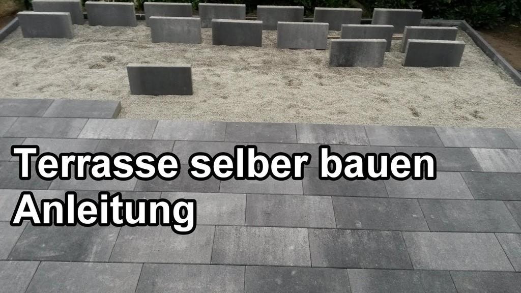 Terrasse Bauen Schritt Fr Schritt Anleitung Steinterrasse regarding proportions 1280 X 720