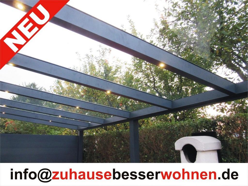 Terrassenberdachung Carport Aluminium Terrassendach Anthrazit Vsg pertaining to proportions 1600 X 1199