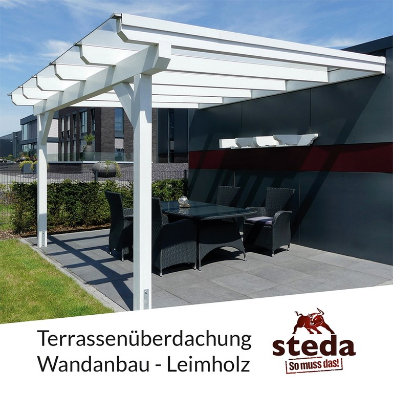 Terrassenberdachung Holz 6x4 M 600x400 Cm Wandanbau Vsg 10 Mm with regard to dimensions 1000 X 1000