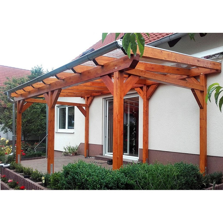 Terrassenberdachung Holz Leimholz 4x4 M 400x400 Cm Freistehend within sizing 1000 X 1000