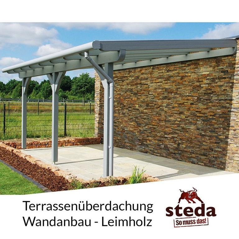 Terrassenberdachungholz 600x300 Cm Wandanbau Sicherheitsglas 8 regarding proportions 1000 X 1000
