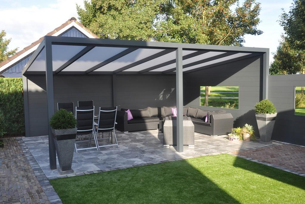 Terrassendach Aluminium Ueberdachung Polycarbonat 5 M Freistehend Kaufen pertaining to size 1600 X 1071