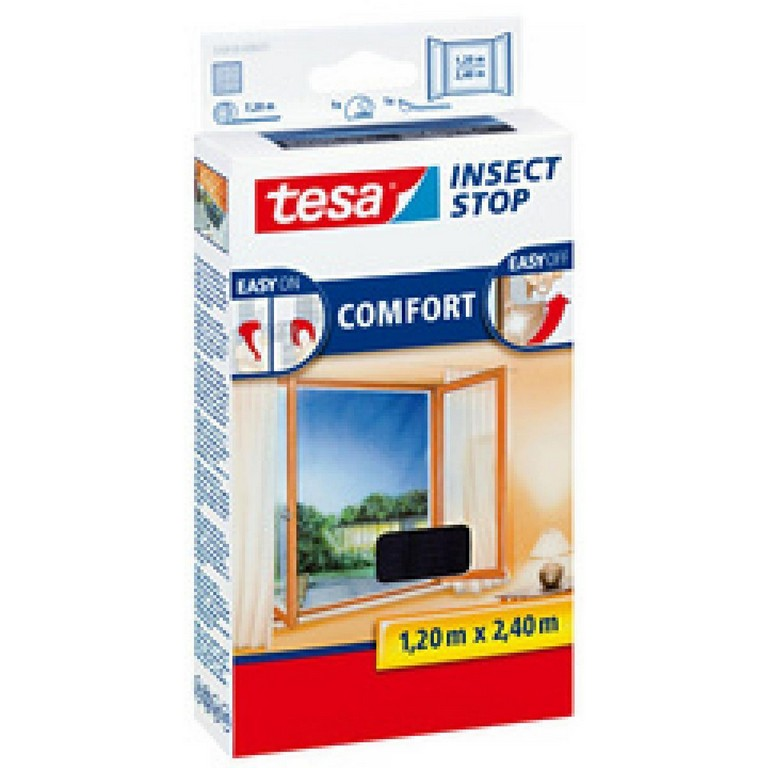 Tesa Fliegengitter Comfort Fr Bodentiefe Fenster Anthrazit regarding proportions 1200 X 1200