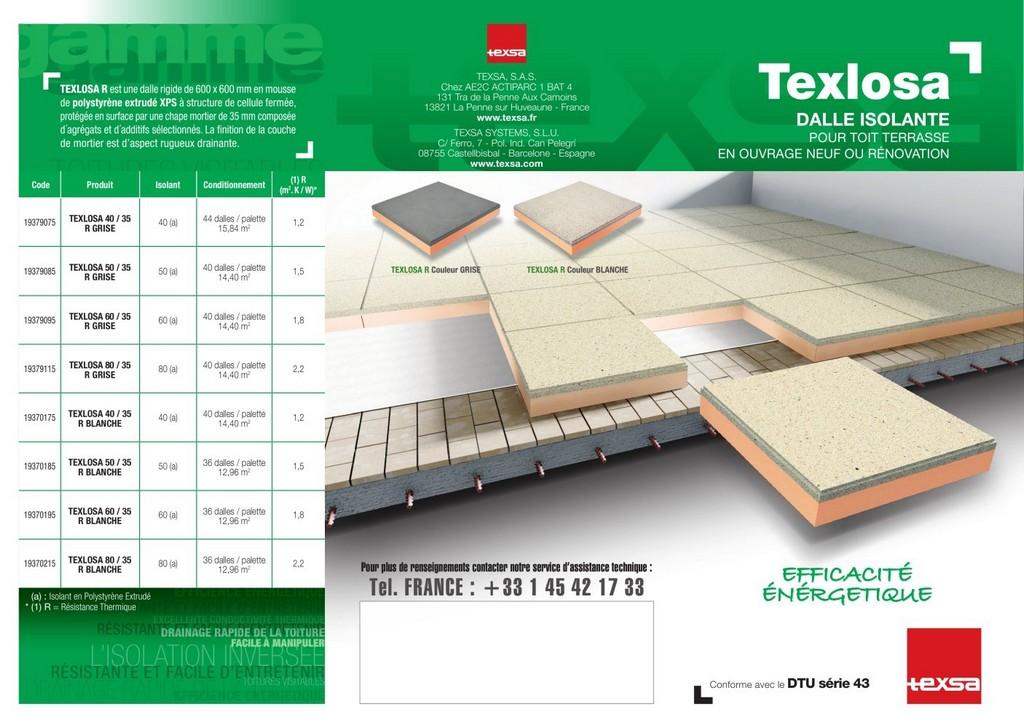 Texlosa Dalle Isolante Pour Lisolation Inverse Des Toitures within measurements 1406 X 1000