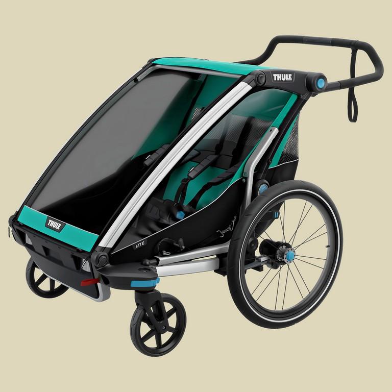 Thule Chariot Lite 2 Mit Stvzo Beleuchtung Bluegrassblack Naturzeit for proportions 2500 X 2500
