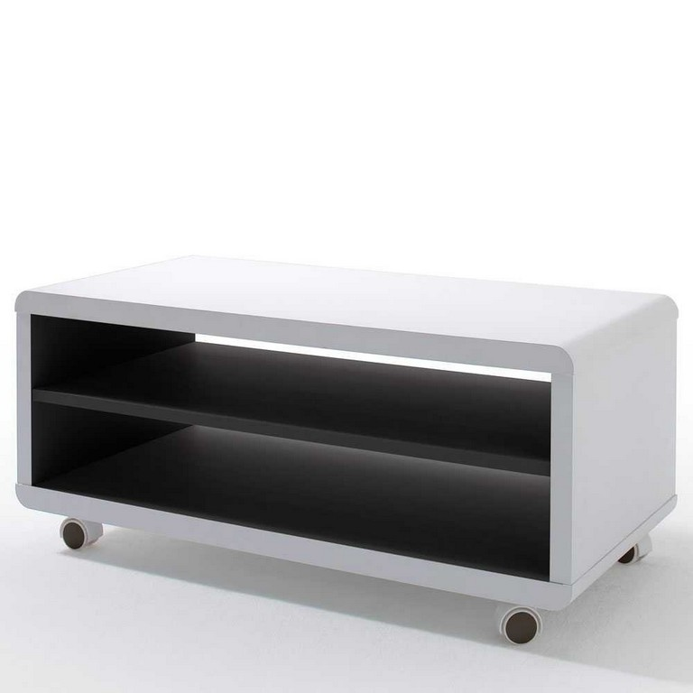 Tolles Tv Rack Enzo In Wei Auf Rollen Pharao24de with proportions 1000 X 1000