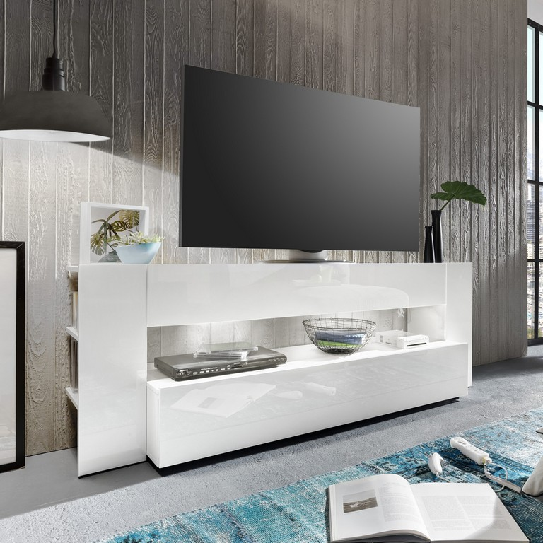 Tv Lowboard Onyx Tv Board Lowboard In Wei Hochglanz Tv Mbel Led intended for sizing 1200 X 1200