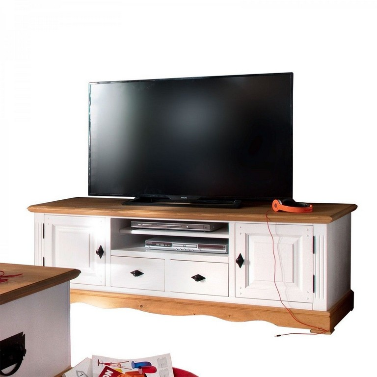 Tv Lowboard Wei Natur 160 Cm Breit Pinie Massiv Jetzt Bestellen intended for size 1200 X 1200