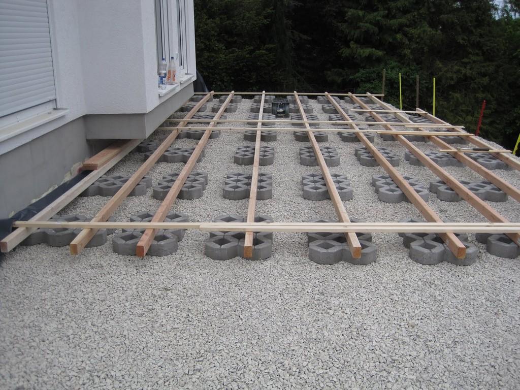 Unser Liebevoller Haus Und Gartenblog Unterkonstruktion Holzterrasse regarding measurements 1600 X 1200