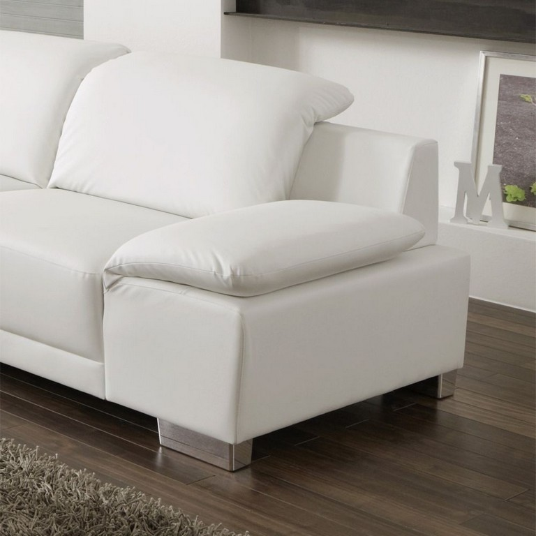 Unthinkable Kunstleder Sofa Weis 3 Sitzer Lupo In Wei Aus Pharao24 for sizing 1000 X 1000