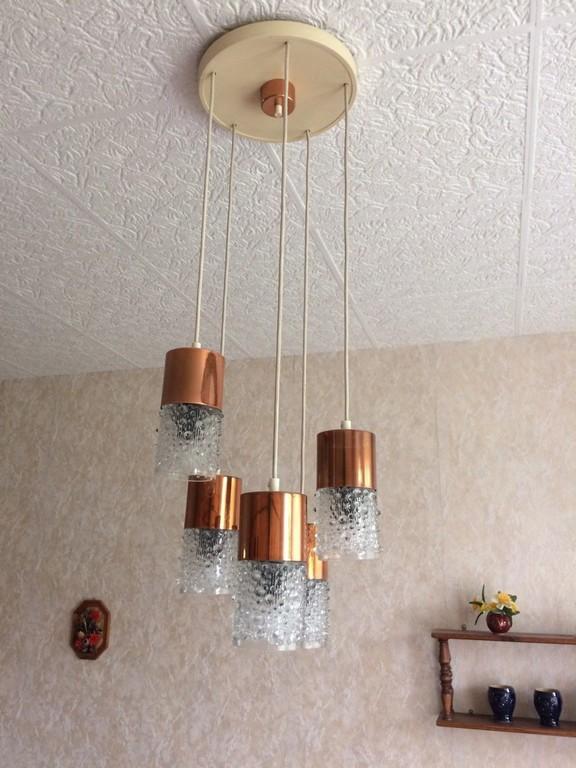 Vintage Wohnzimmerlampe Ddr Deckenlampe 5 Flammig Top Eur 8000 pertaining to sizing 1200 X 1600