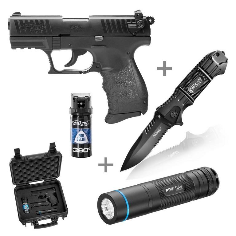 Walther P22q Schreckschuss Pistole 9mm Pak R2d Kit Inkl inside proportions 1300 X 1300