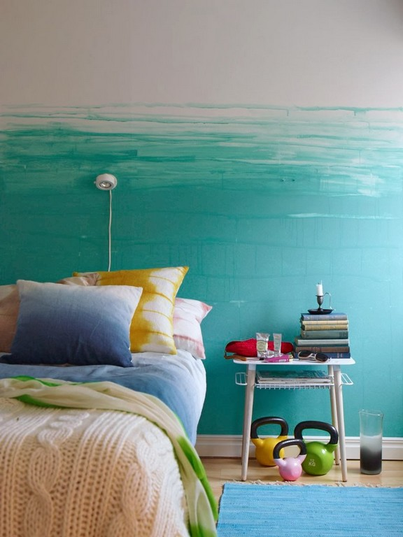 Wand Streichen In Farbpalette Der Wandfarbe Blau Freshouse with size 900 X 1200