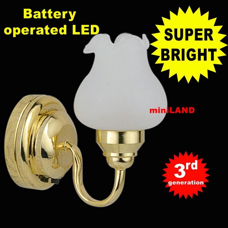 Wandleuchte Tulpe Superhellen Led Lampe Batteriebetrieben Puppenhaus with proportions 1200 X 1200