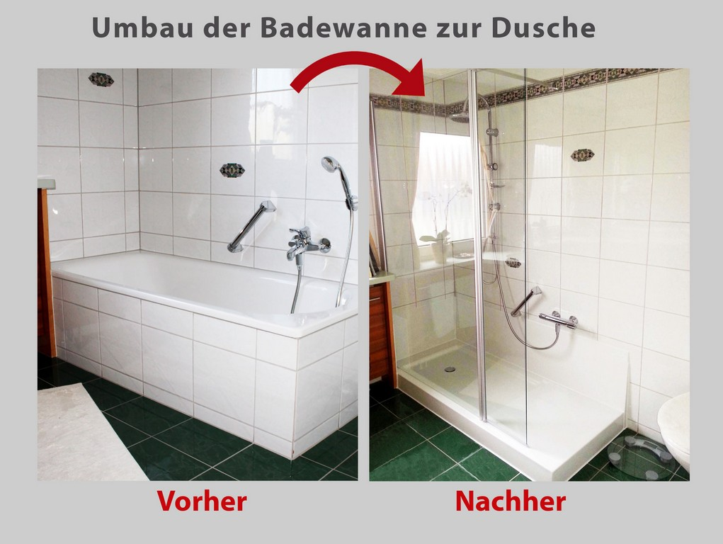 Wanne Zur Dusche Badewanne Raus Dusche Rein Bad Teilsanierung throughout sizing 2048 X 1540