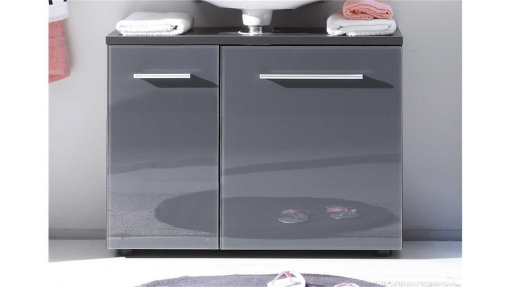 Waschbeckenunterschrank Grey Badezimmer Grau Ohne Becken with regard to measurements 1500 X 844