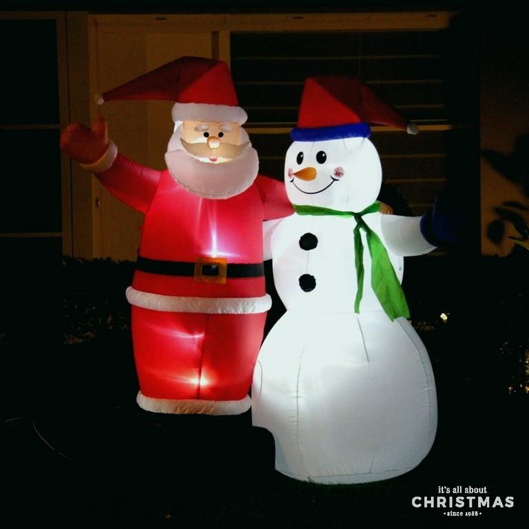 Weihnachtsgardinen Mit Beleuchtung Fein Aufblasbarer Santa throughout size 1200 X 1200