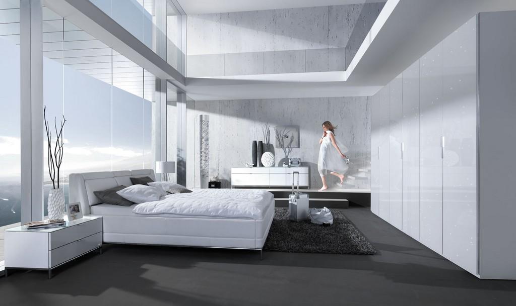 Welle Chiraz Schlafzimmer Komplett Wei Hochglanz Swarovski Elements in size 1800 X 1071