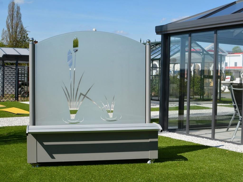 Windschutz Aus Glas Fr Garten Und Terrasse throughout size 1440 X 1080