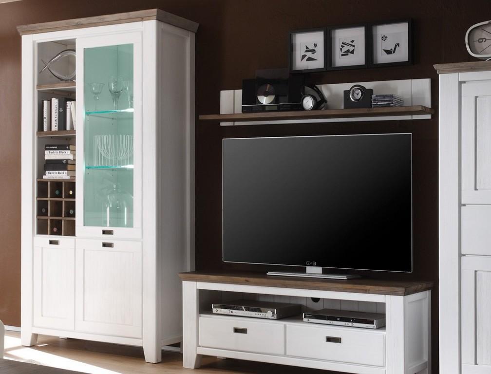 Wohnwand Barnelund Akazie Wei 4 Teilig Medienwand Tv Wand Tv Mbel throughout dimensions 1050 X 800