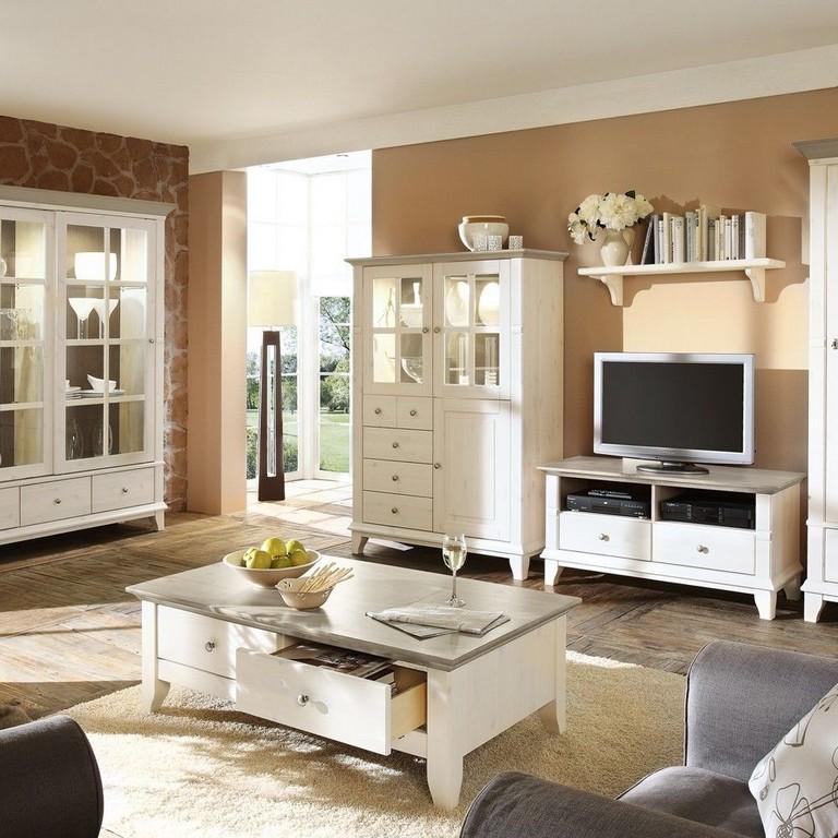 Wohnzimmerschrank Kreta Im Landhausstil Kiefer Wohnende Haus regarding proportions 1000 X 1000