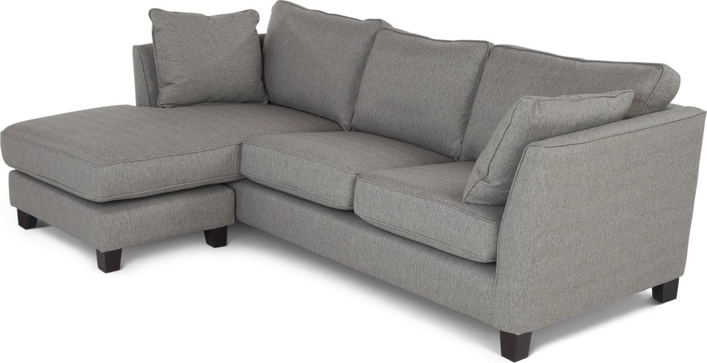 Wolseley Large Corner Sofa Sofa Herringbone Marl Grey From Made throughout size 2141 X 1099