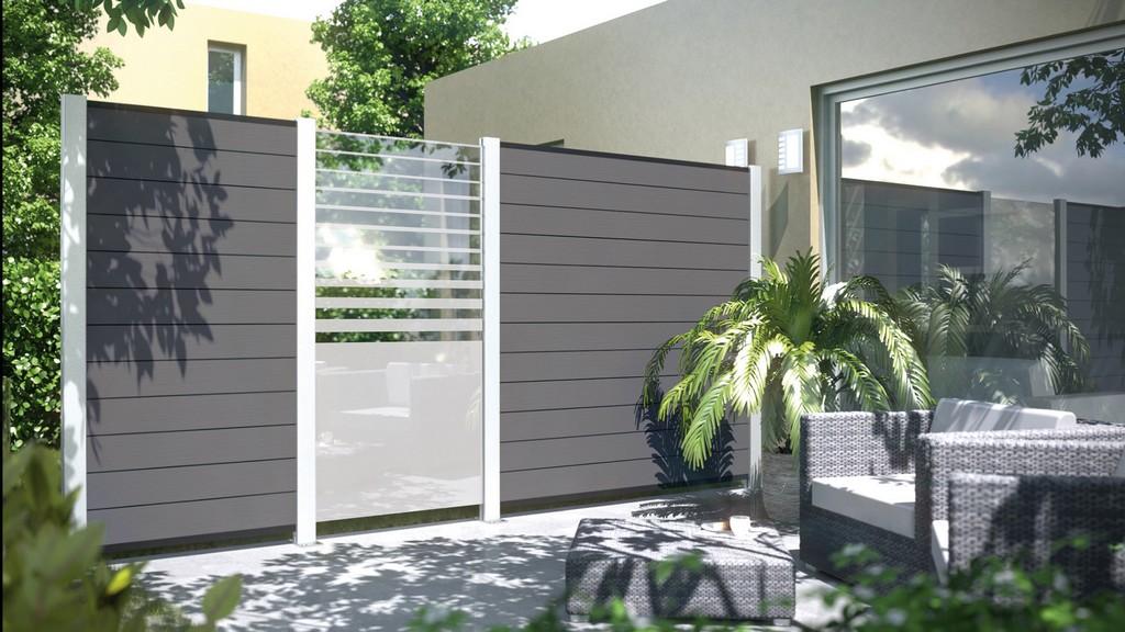 Sichtschutz Garten Kunststoff Anthrazit Haus Ideen