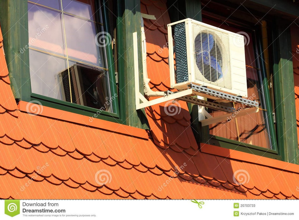 Zentrale Klimaanlage Auf Dem Dachboden Stockbild Bild Von Hoch intended for dimensions 1300 X 957
