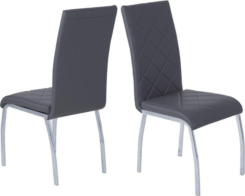 4 X Esszimmersthle Grau Leder Look Stuhlset Kche Stuhlgruppe throughout measurements 1600 X 1281