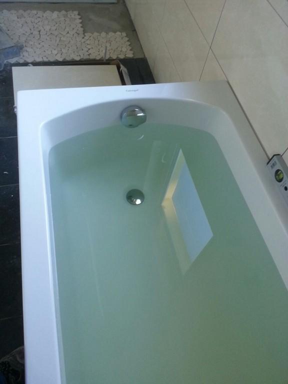 Abschluss Fliesenarbeiten Einbau Badewanne Wir Bauen Eine with regard to sizing 960 X 1280