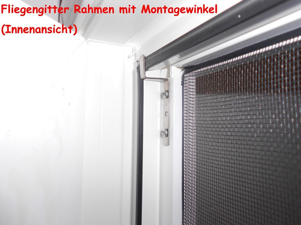 Alu Fliegengitter Insektenschutz Fenster 170x160cm Wei pertaining to size 1486 X 1115