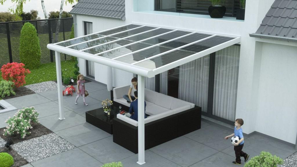 Alu Terrassendach 0 Mit Solar Als Sonnenschutz Premium throughout dimensions 1279 X 720