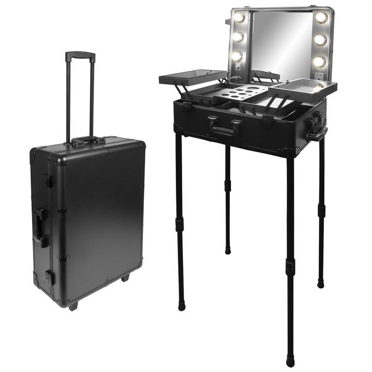 Anndorade Kosmetikkoffer Visagistenkoffer Spiegel Beleuchtung regarding size 1500 X 1500