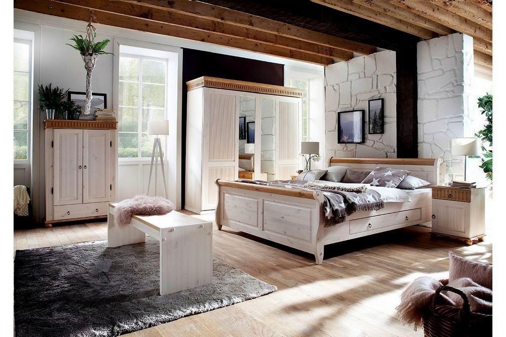 Atemberaubend Schlafzimmer Helsinki Malta Set Weiss Antik 1239 Haus inside measurements 1268 X 845