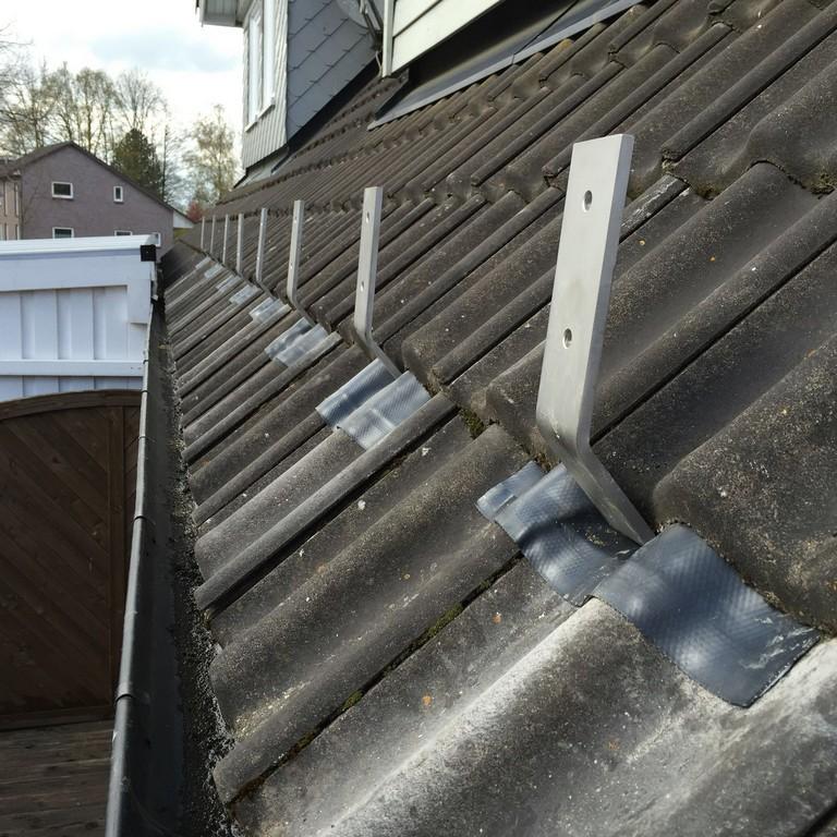 Aufdachmontage Eines Terrassendaches Bei Niedrigem Dachstand pertaining to dimensions 1600 X 1600