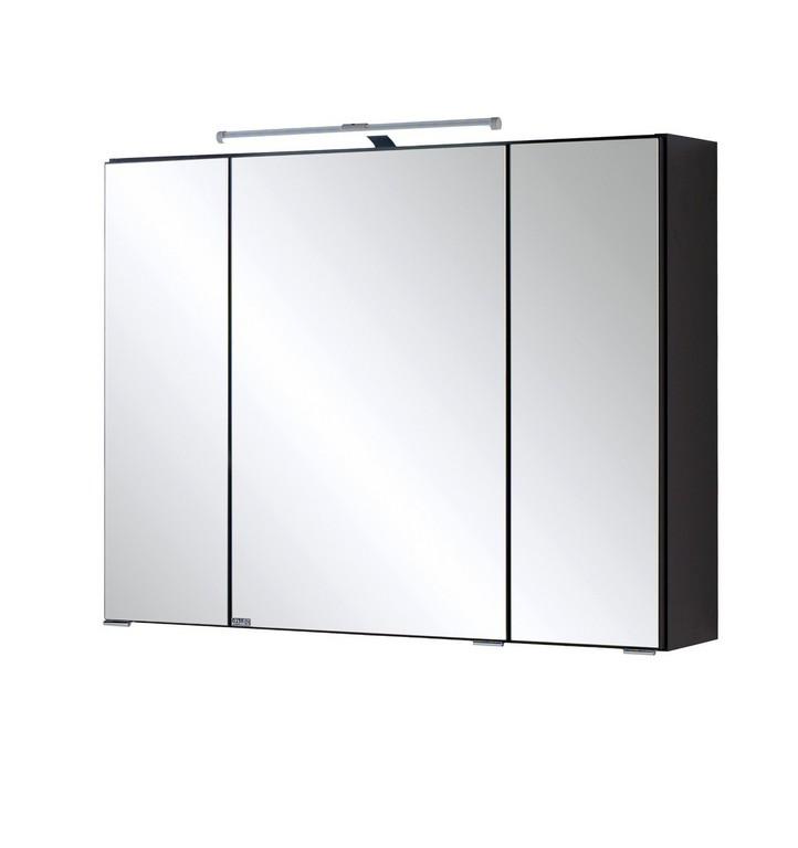 Bad Spiegelschrank 3 Trig Mit Led Aufbauleuchte 80 Cm Breit inside size 1410 X 1500