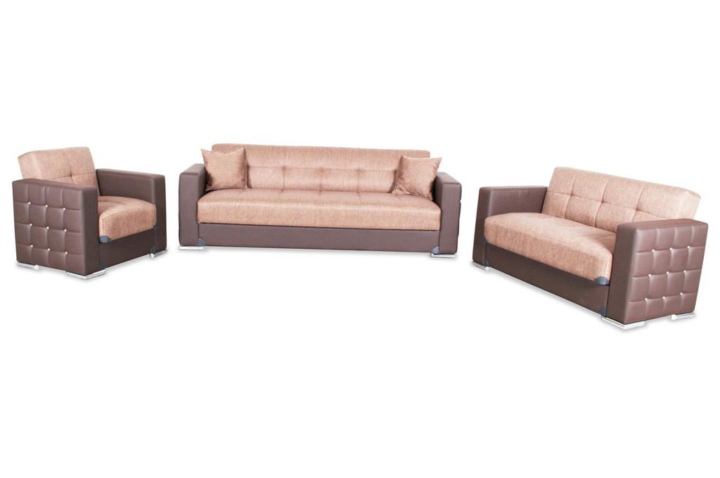 Bader Garnitur 3 2 1 Borina Mit Relax Und Schlaffunktion Braun regarding proportions 1280 X 850