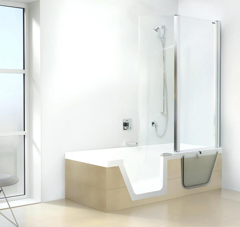 Badewanne Zum Duschen Step In Pure Von Duscholux Ag for dimensions 2000 X 1886
