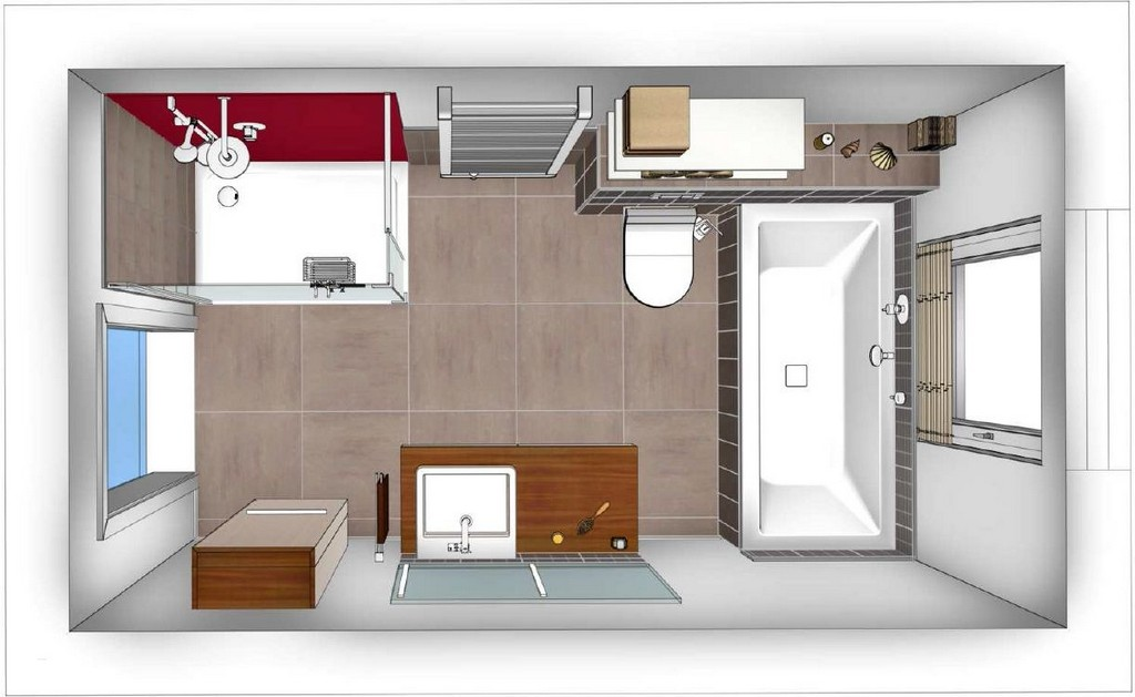 Badezimmer Grundriss Beispiele Einzigartig Badezimmer 8m2 Planen inside size 1222 X 751