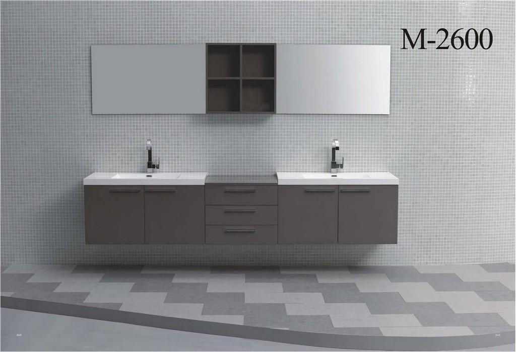 Badmbel Doppelwaschtisch Set 260 Cm In Verschiedenen Farben throughout measurements 1171 X 800