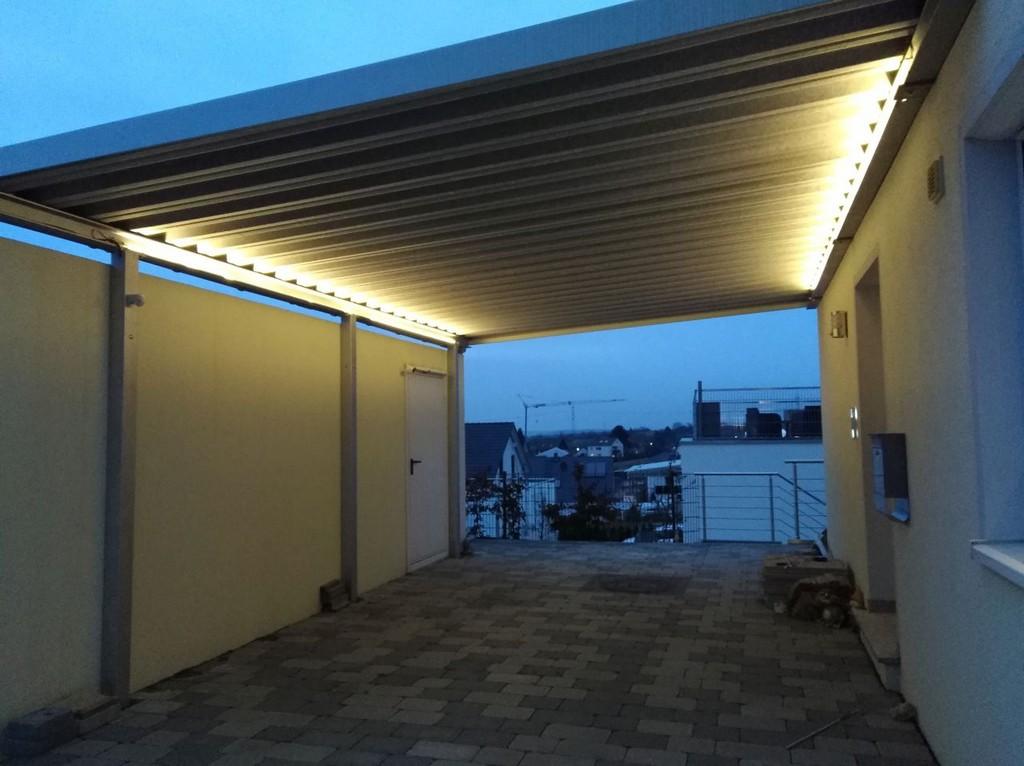 Beleuchtung Unter Dem Carport Alex Weblog in dimensions 1280 X 957
