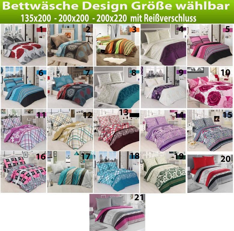 Bettwsche Baumwolle 135x200 200x200 200x220 2 3 Teilig inside size 1850 X 1824