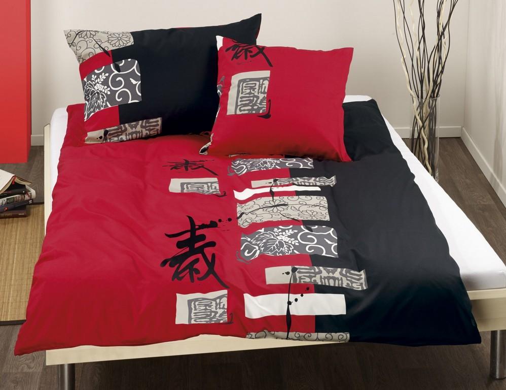 Bettwsche Chinesische Schriftzeichen Schwarz Rot Lehner Versand with regard to sizing 1800 X 1385