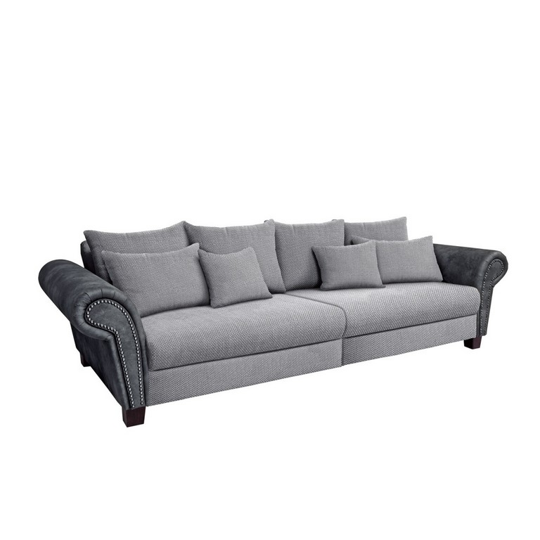 Big Sofa Cornwall Stoffbezug Anthrazitsilbergrau Ca 304 X 80 X 123 regarding dimensions 1200 X 1200